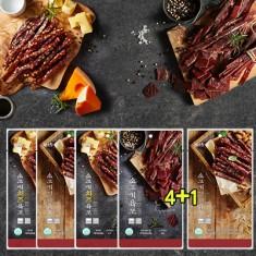 국내산 소고기/ 치즈/ 견과육포80g 4봉+1봉추가 이미지