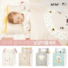[신학기] [꿈비] 미미루 알러지케어 낮잠이불 4종 세트 /신학기 베개 패드 아기 유아 이불 가방 이미지