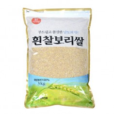 [두보식품] 햇곡 흰찰보리쌀 3kg 이미지
