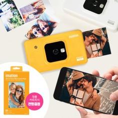 추억을 찍고 바로 출력하세요! 이메이션 스마트폰 포토 프린터 카메라 C210 CU-T(큐티)(옐로우/화이트) 이미지