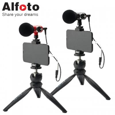 [개인방송장비] 올포토 카메라 스마트폰용 마이크 Q-Mic Kit