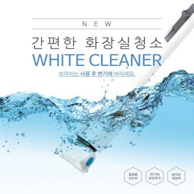 화이트크리너 화장실청소기 핸들/리필팩