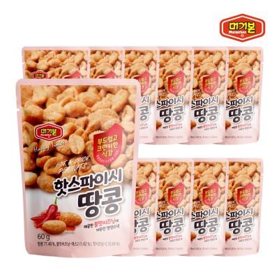[머거본] 견과류 핫 스파이시 땅콩 60g x12